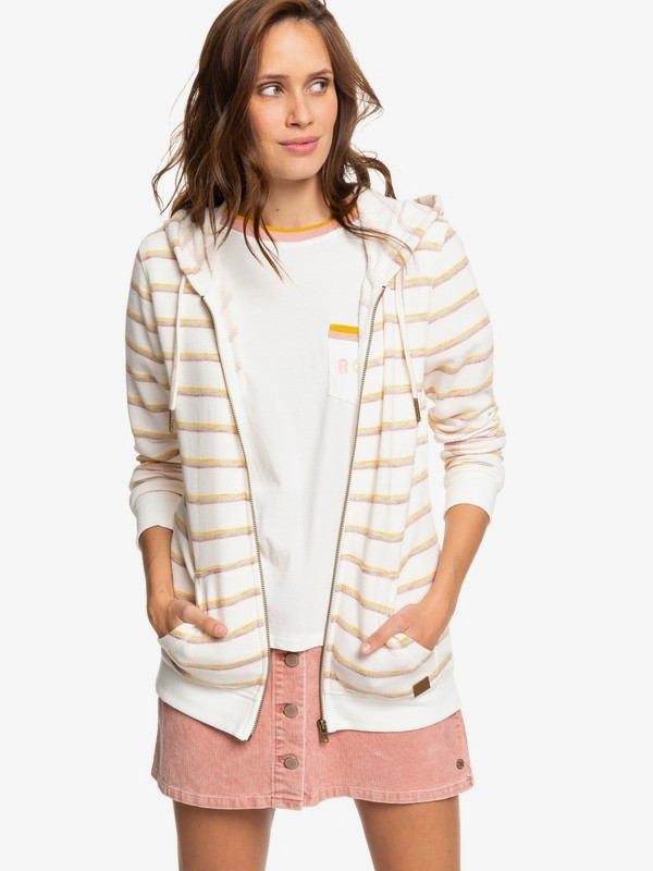 0 Trippin - Zip-Up Hoodie for Women Pink ERJFT04060 Roxy