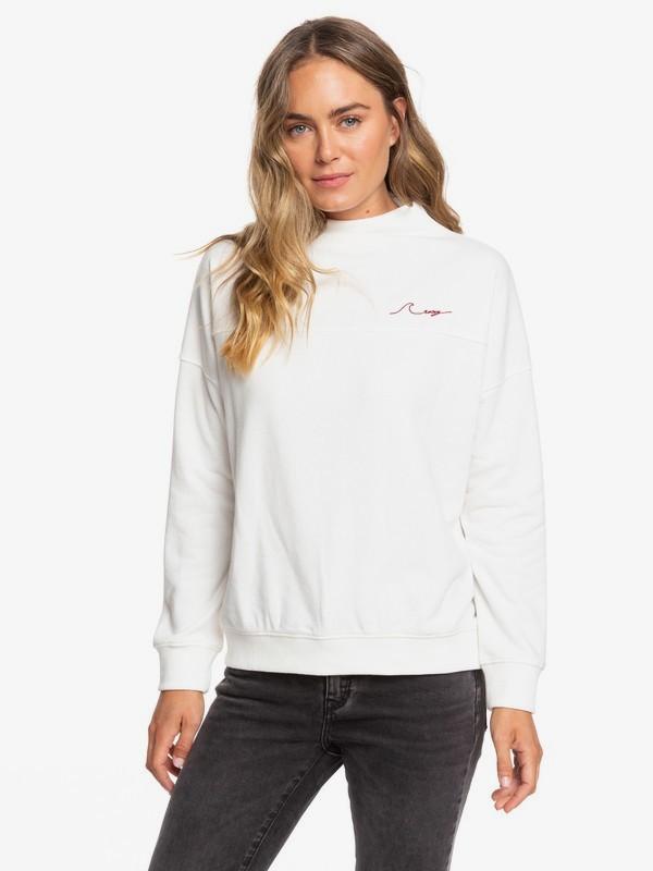 0 Mind Surf High Neck Sweatshirt White ERJFT04105 Roxy