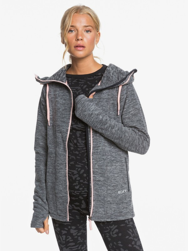 Electric Feeling - Zip-Up Polar Fleece Hoodie for Women  ERJFT04259