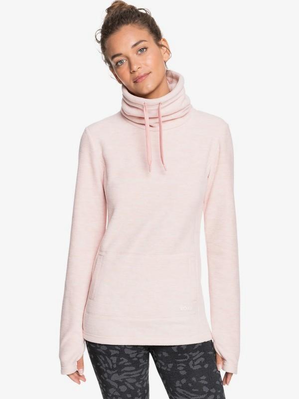 Snow Flakes Vibes - High Collar Polar Fleece for Women  ERJFT04260