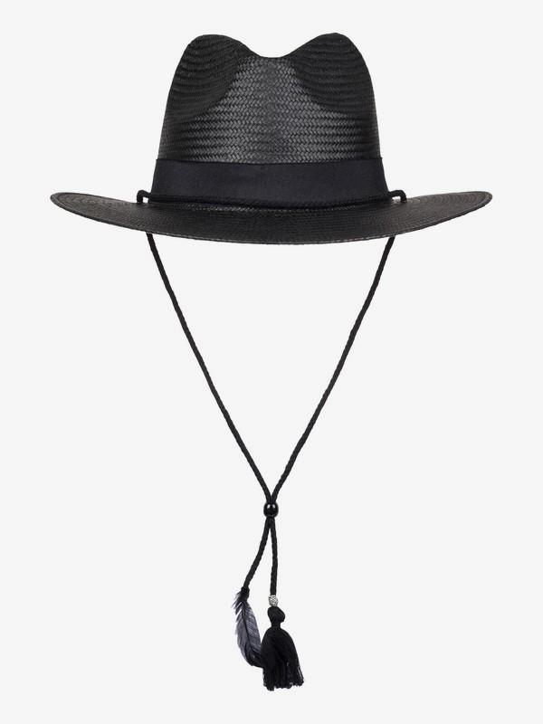 0 California Feeling Straw Panama Hat Black ERJHA03224 Roxy