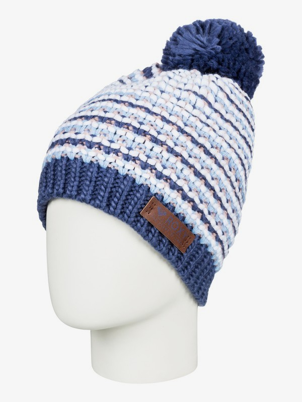 0 Anamudi - Pom-Pom Beanie for Women Blue ERJHA03409 Roxy