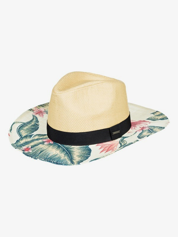 0 Look For Rainbows - Sombrero Cowboy de Paja para Mujer Blanco ERJHA03527 Roxy