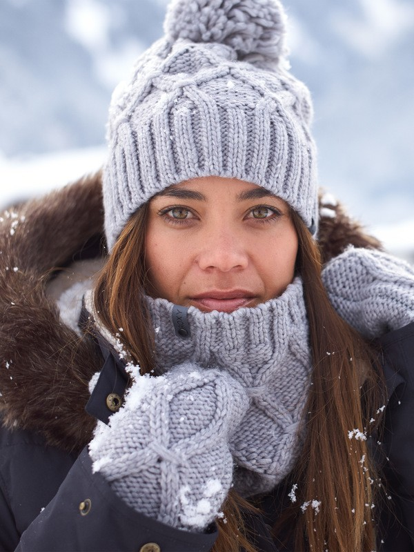 0 Winter - Gorro con Pompón para Mujer Gris ERJHA03556 Roxy
