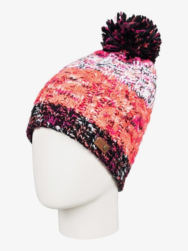 0 Telma Block - Bonnet à pompon pour Femme Rose ERJHA03560 Roxy