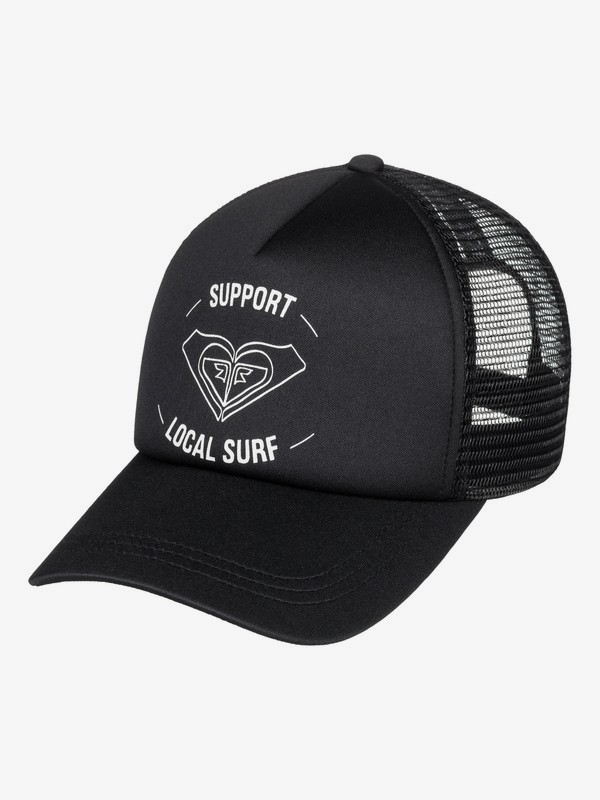 0 Truckin Color Trucker Hat Black ERJHA03574 Roxy