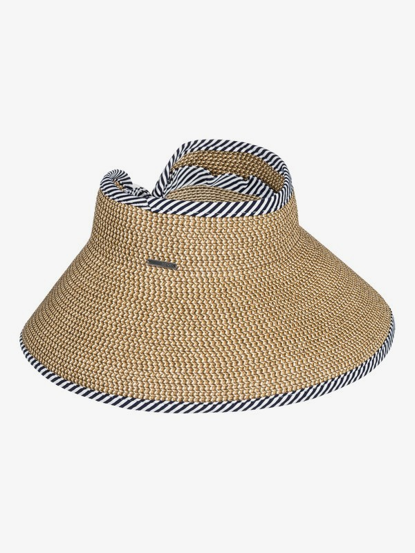 0 Kiss The Ocean Capeline Straw Visor  ERJHA03594 Roxy