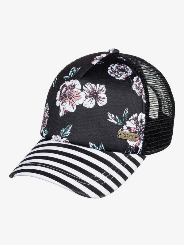 0 Water Come Down Trucker Hat Black ERJHA03611 Roxy