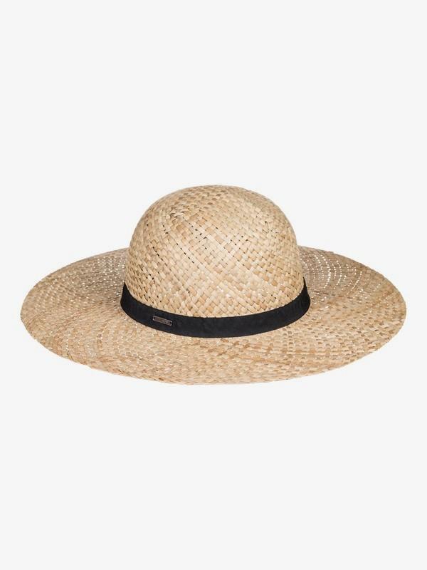 0 Hippy Squad - Wide Brim Straw Sun Hat for Women Amarillo ERJHA03626 Roxy