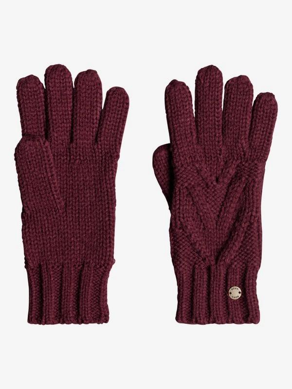 0 Lovers Soul Knitted Gloves Red ERJHN03122 Roxy