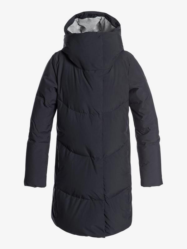 0 Abbie - Waterproof Hooded Longline Puffer Jacket for Women Black ERJJK03234 Roxy