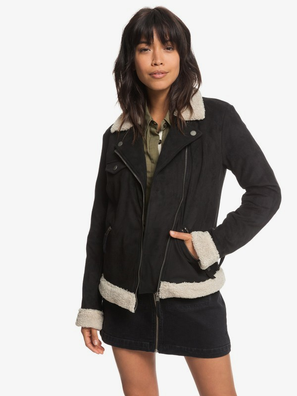 Gateway Games - Faux-Suede Pilot Jacket for Women  ERJJK03259