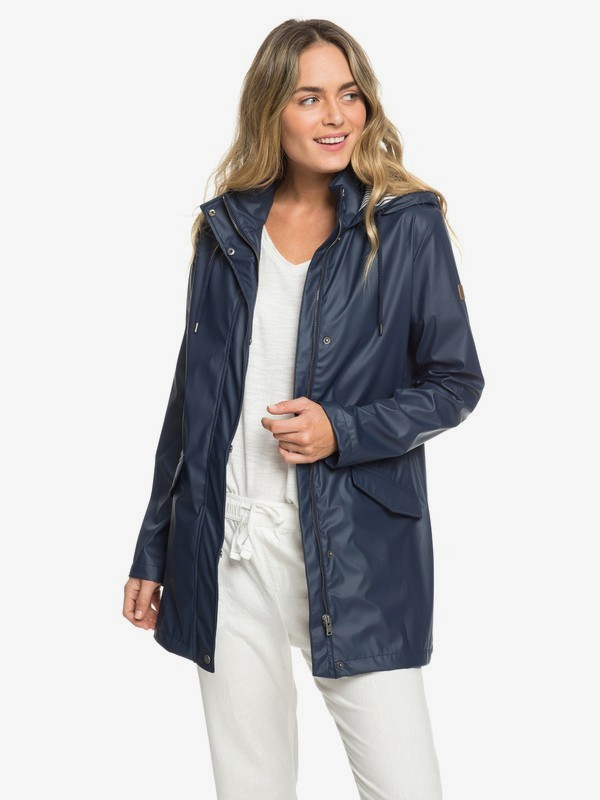 0 Early Morning - Water-Repellent Rain Mac for Women Blue ERJJK03277 Roxy