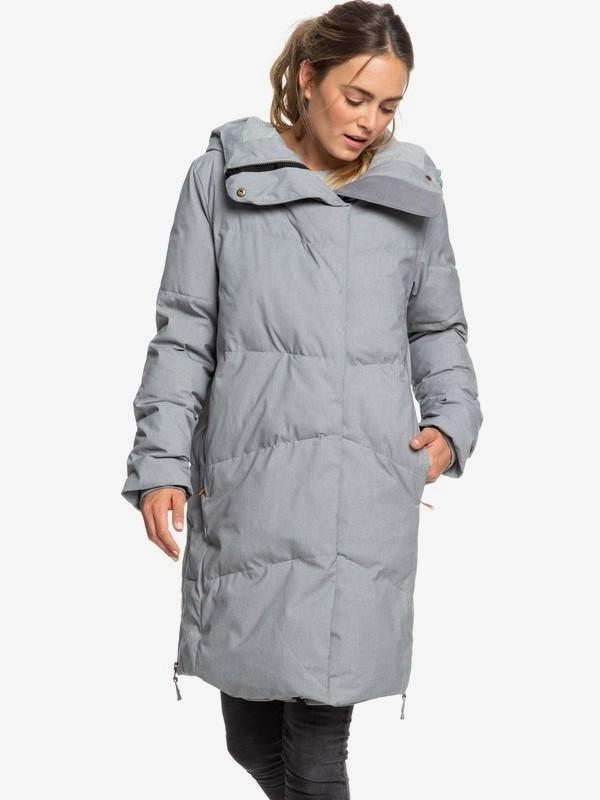 Abbie - Waterproof Longline Hooded Puffer Jacket for Women  ERJJK03282