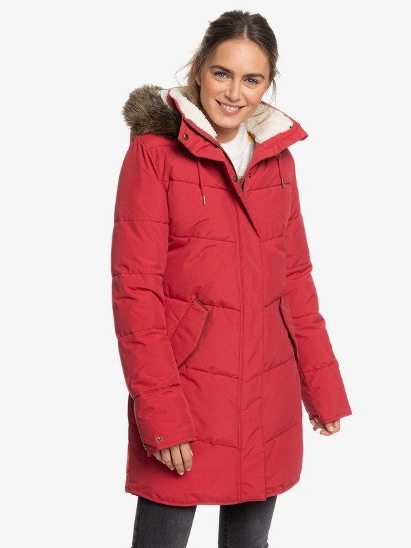 Ellie - Longline Hooded Waterproof Puffer Jacket for Women  ERJJK03289