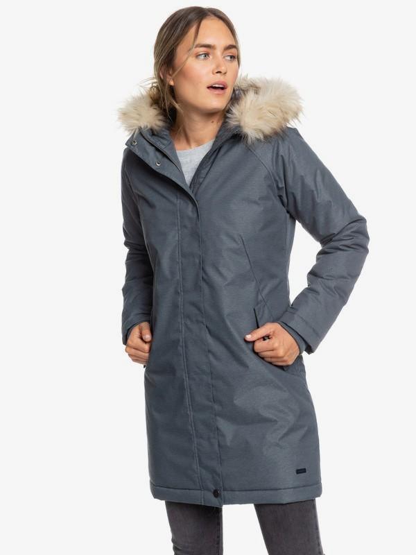 Shadow Of Time - Longline Water-Repellent Hooded Jacket for Women ERJJK03305