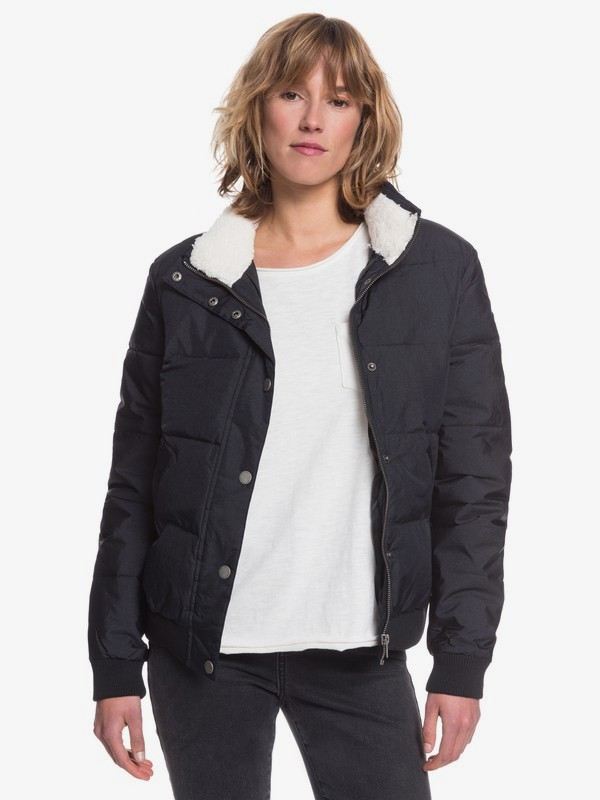 0 Start Believing - Short Puffer Jacket for Women Black ERJJK03309 Roxy