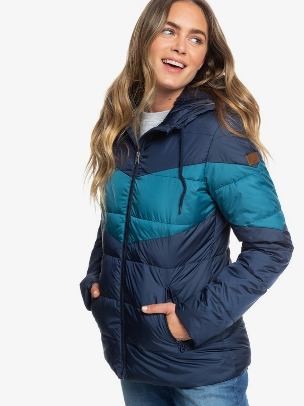 Feeling Breezy - Water-Resistant Hooded Puffer Jacket for Women  ERJJK03316