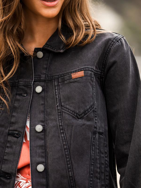 True Star Black - Denim Trucker Jacket for Women  ERJJK03405
