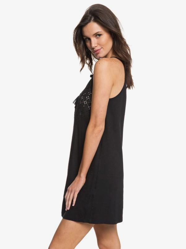 0 Enchanted Island - Riemchenkleid für Frauen Schwarz ERJKD03164 Roxy