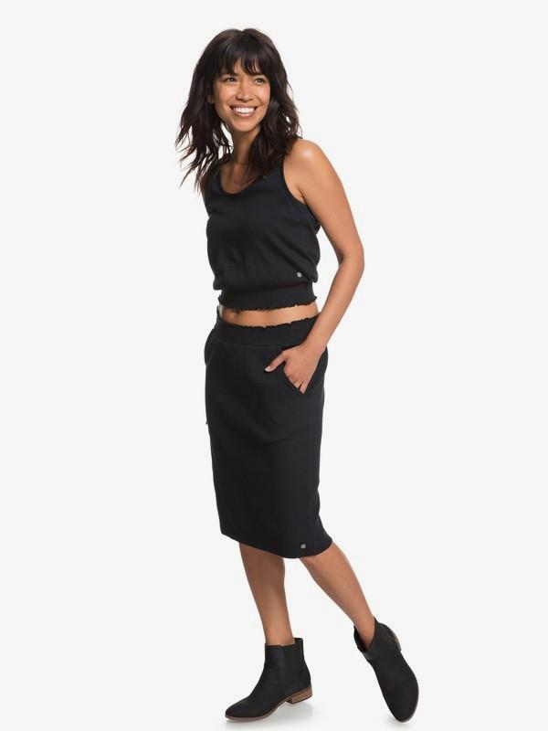 0 I Feel Fine Midi Skirt Black ERJKK03026 Roxy