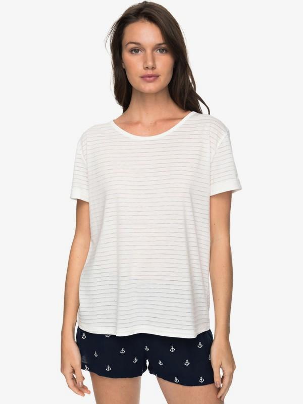 0 Earlybird Gang - Camiseta para Mujer Blanco ERJKT03351 Roxy