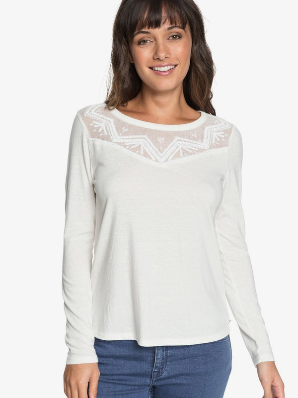 0 Blossom Day - Top de manga larga para Mujer Blanco ERJKT03460 Roxy