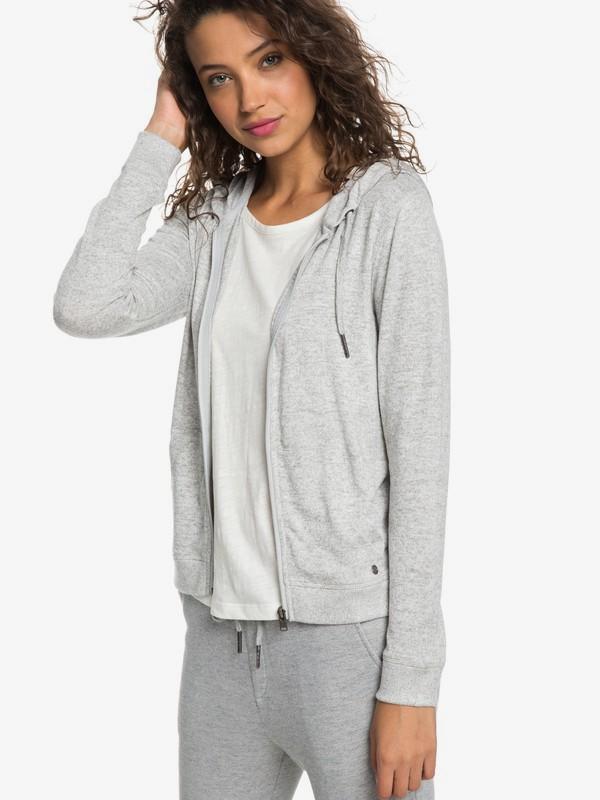 0 Cozy Zip-Up Hoodie Grey ERJKT03491 Roxy