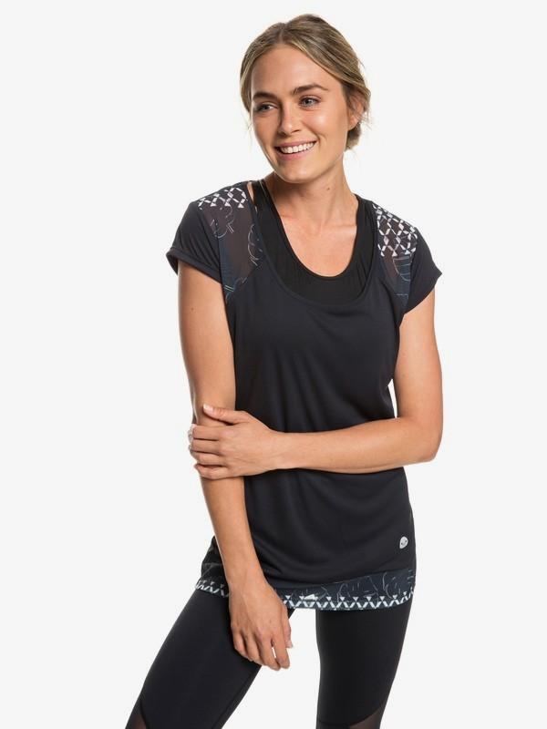 0 Liquid Sunshine - T-shirt de sport pour Femme Blanc ERJKT03511 Roxy
