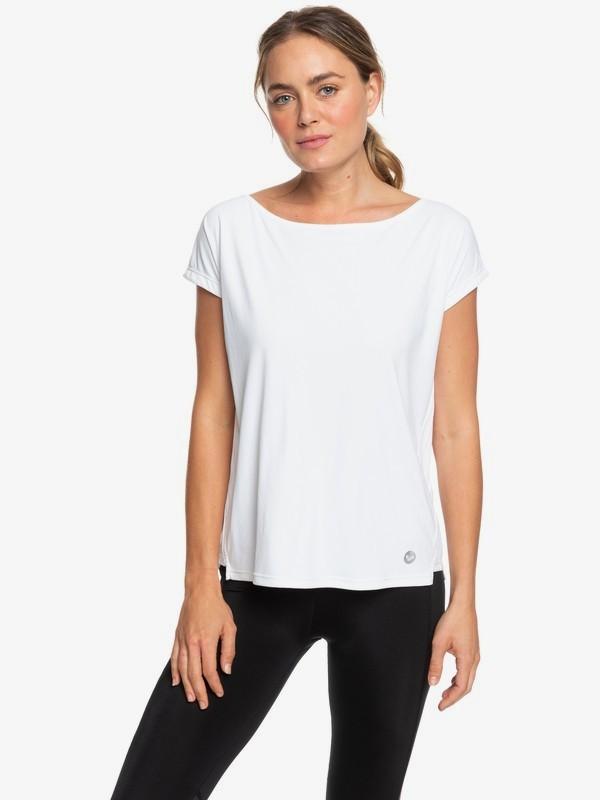 0 Dont Be Shy - Camiseta Deportiva para Mujer Blanco ERJKT03514 Roxy