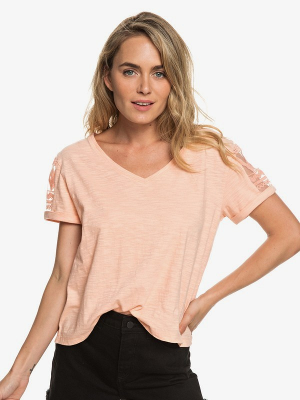 0 Turn Around Me - Camiseta para Mujer Rosa ERJKT03520 Roxy