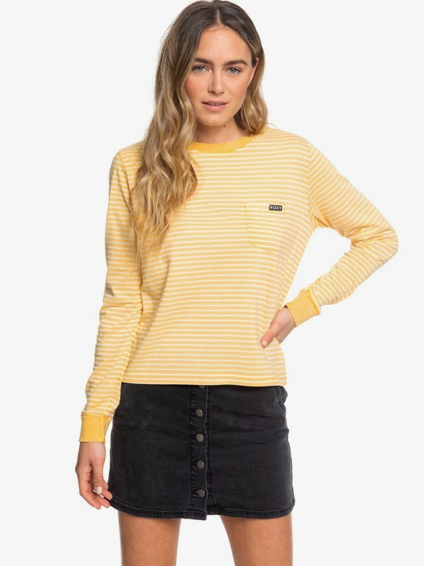 0 Back To You - Long Sleeve T-Shirt for Women Yellow ERJKT03557 Roxy
