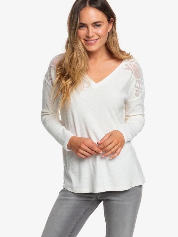 0 You Gotta Be - Haut manches longues encolure en V pour Femme Blanc ERJKT03560 Roxy