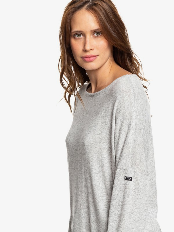 0 Holiday Everyday - Long Sleeve Top for Women Grey ERJKT03564 Roxy