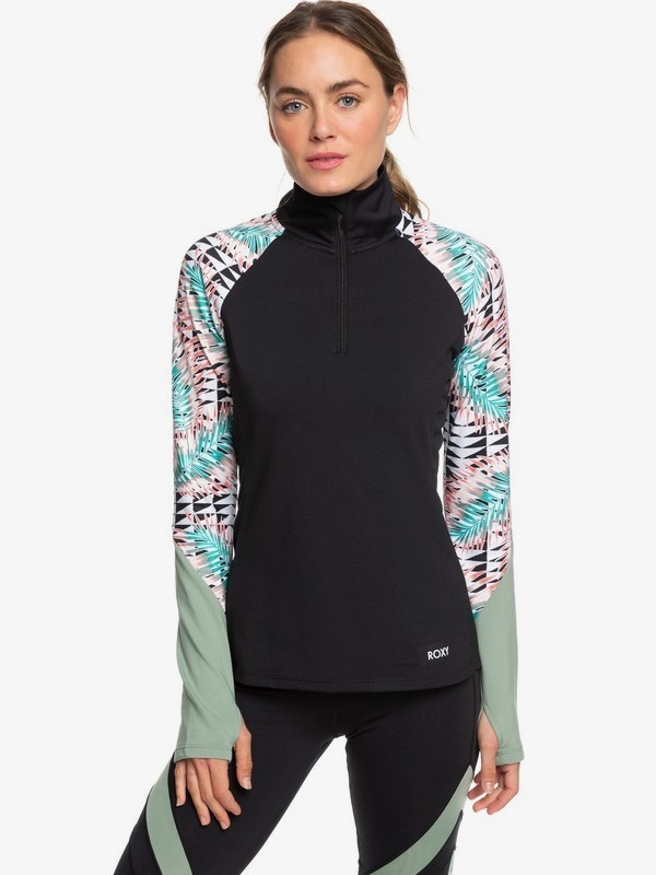 Lead By The Slopes - Technical Half-Zip Mock Neck Long Sleeve Top for Women  ERJKT03585