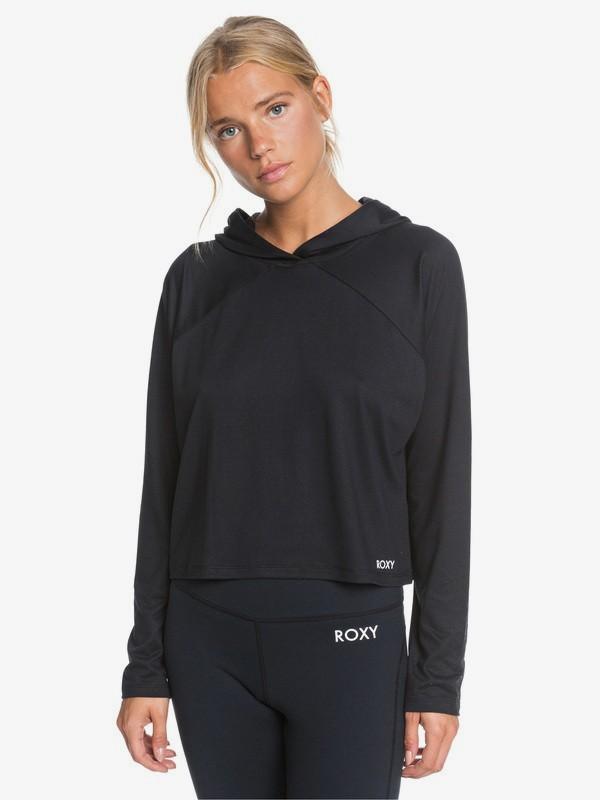 Cosmic Dancer - Hooded Long Sleeve Sport Top for Women  ERJKT03716