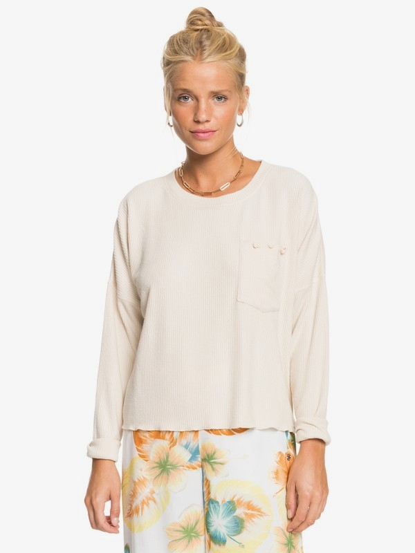 Cozy Day - Long Sleeve Rib Knit Top for Women  ERJKT03795