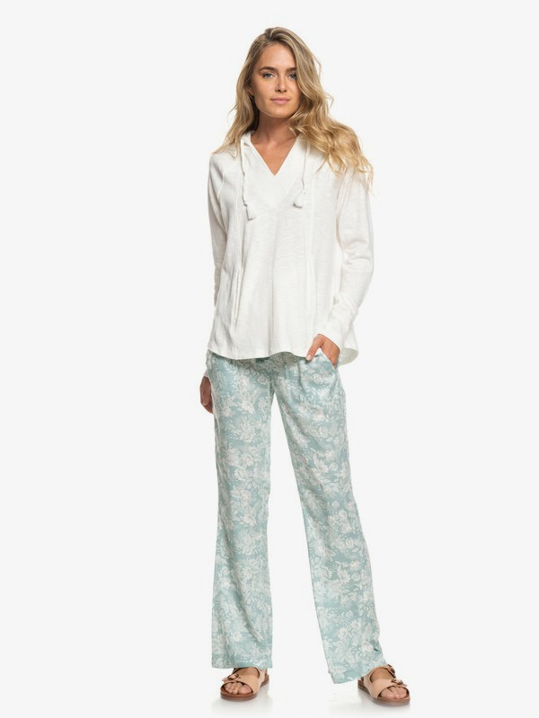 0 Oceanside Viscose Pants Blue ERJNP03220 Roxy