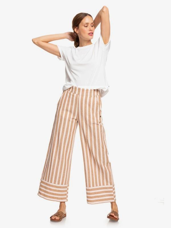 Wild Ideas - Wide Leg Linen Trousers for Women  ERJNP03247