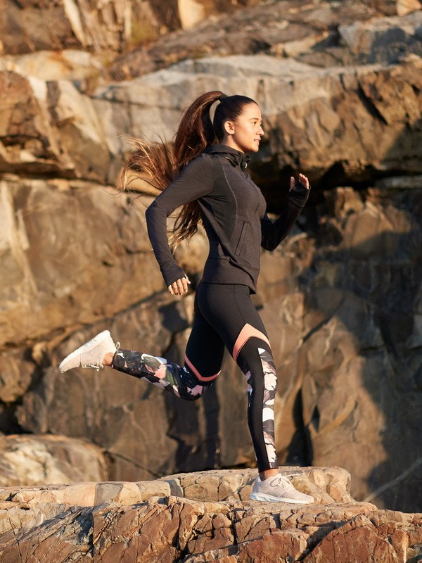 0 Lead By The Slopes - Technical Base Layer Leggings for Women Pink ERJNP03260 Roxy