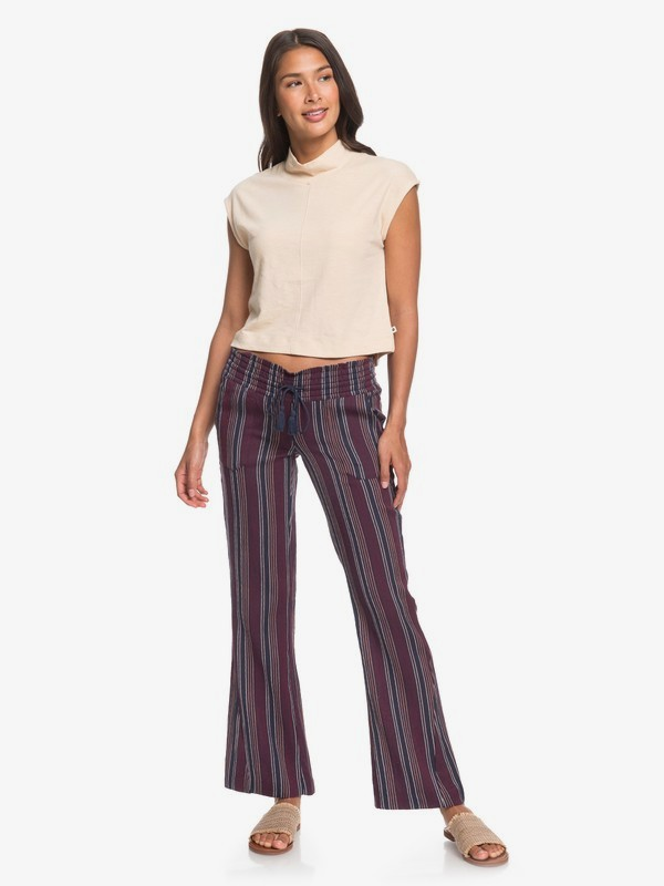 0 Oceanside Flared Beach Pants Blue ERJNP03266 Roxy