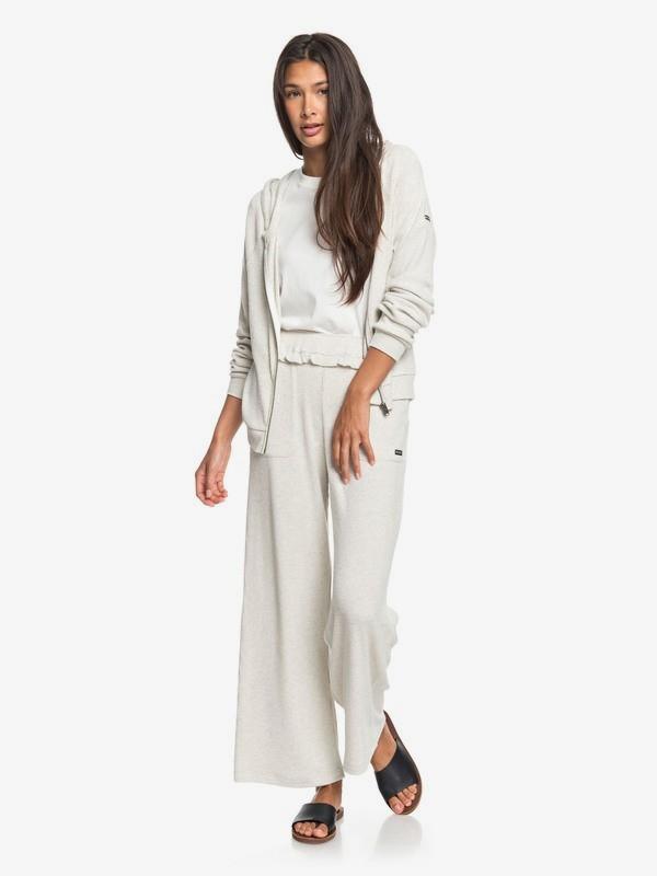 Pastel Sunset - Cosy Wide Leg Rib Knit Trousers for Women  ERJNP03283