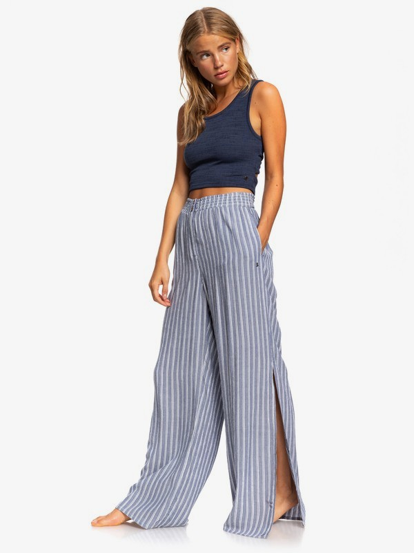Keep Your Dreams - Wide Leg Viscose Trousers for Women  ERJNP03290
