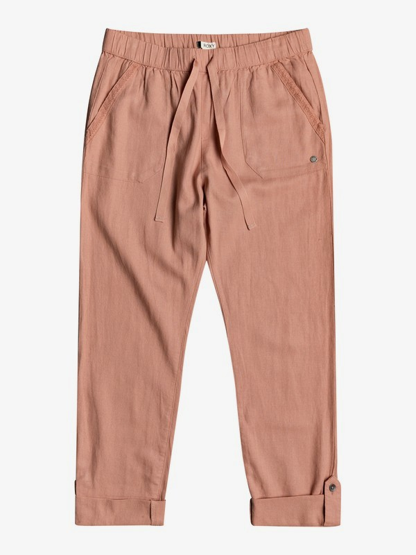 On The Seashore - Elasticated Linen Trousers  ERJNP03294