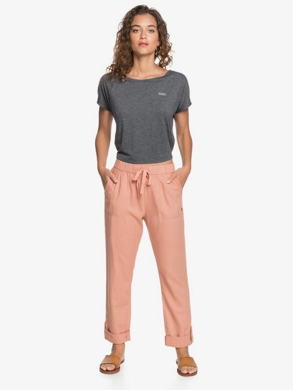 On The Seashore - Elasticated Linen Trousers  ERJNP03294