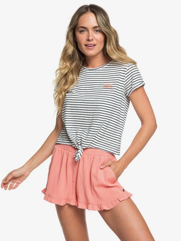 0 Gipsy Soul Ruffle-Hem Shorts Pink ERJNS03218 Roxy