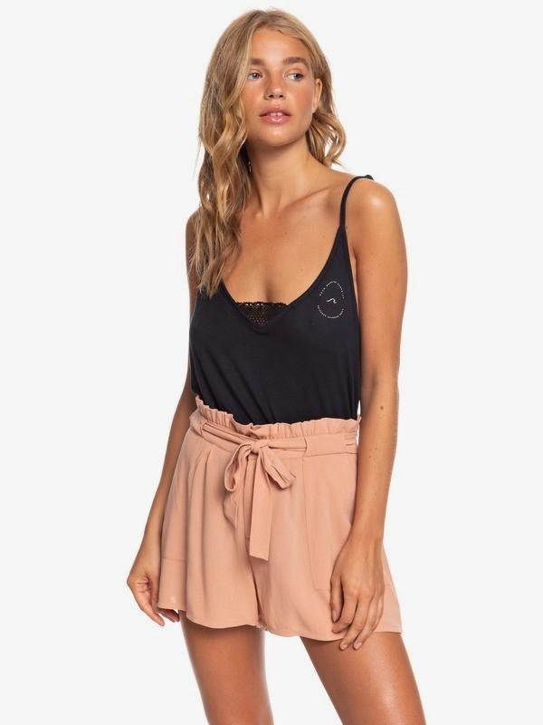 The South Side - High Waist Paper Bag Shorts  ERJNS03250