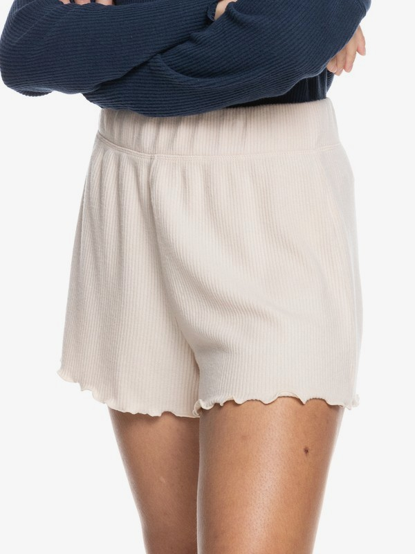 Cozy Day - Rib Knit Lounge Shorts for Women  ERJNS03342