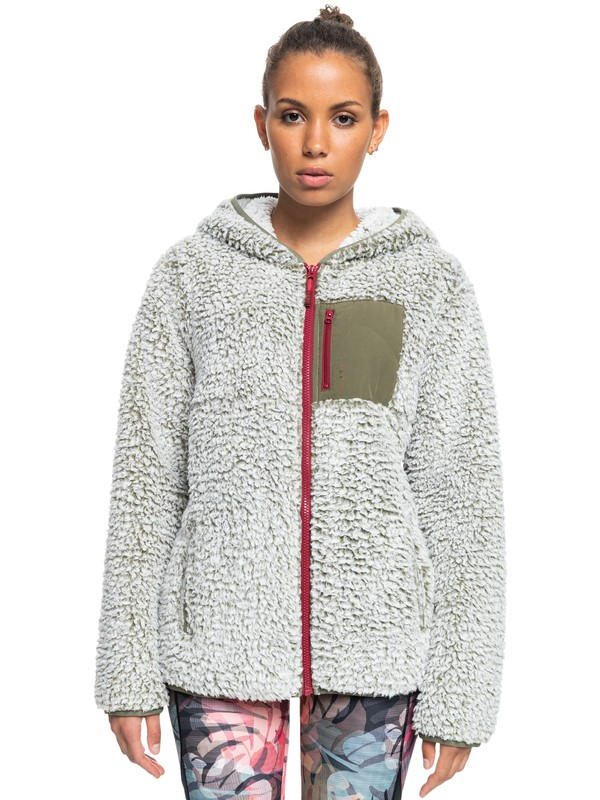 Want It Back - Zip-Up Sherpa Fleece for Women  ERJPF03087