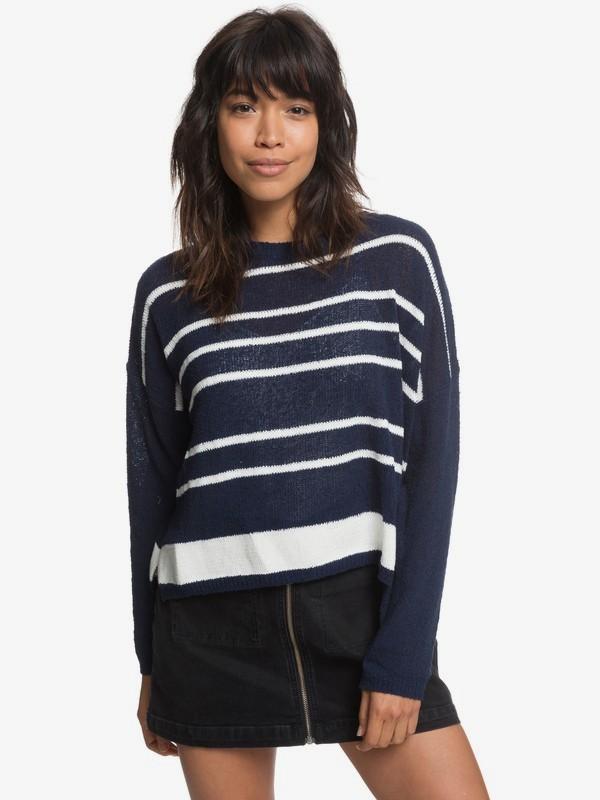0 Street Selvedge Sweater Blue ERJSW03271 Roxy